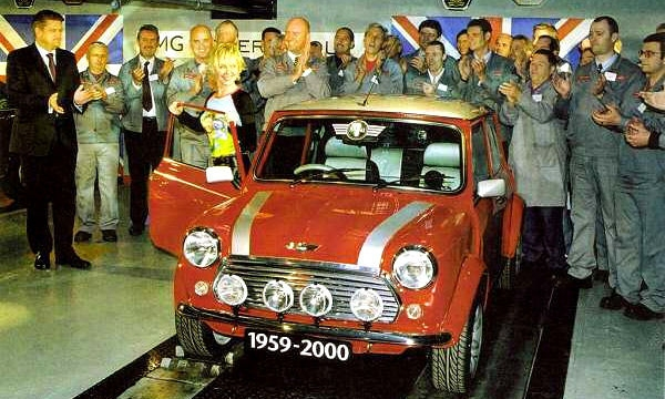 The last Mini off the production line 2001.