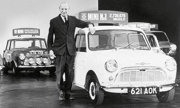 Sir Alec Issigonis and the first Mini 621 AOK
